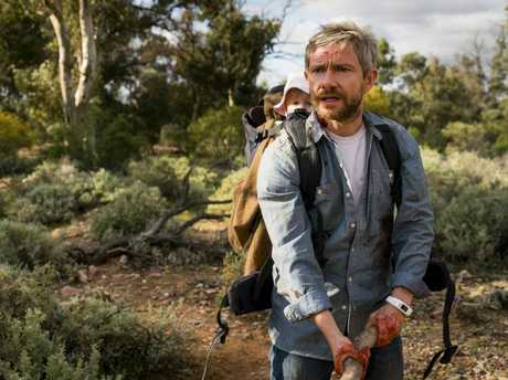 Martin Freeman in a scene from the movie Cargo.