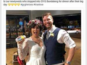 Bundy newlyweds make quick stop for burrito