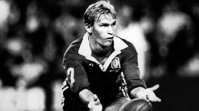LEGEND: Allan Langer pictured during Origin I in 1988. Premier Annastacia Palaszczuk has backed the Daily's calls for a statue to recognise Alfie's place in rugby league history.
