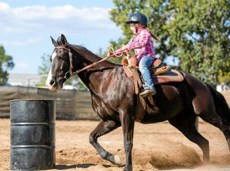 Junior Barrel Racing features as one of today's main events.