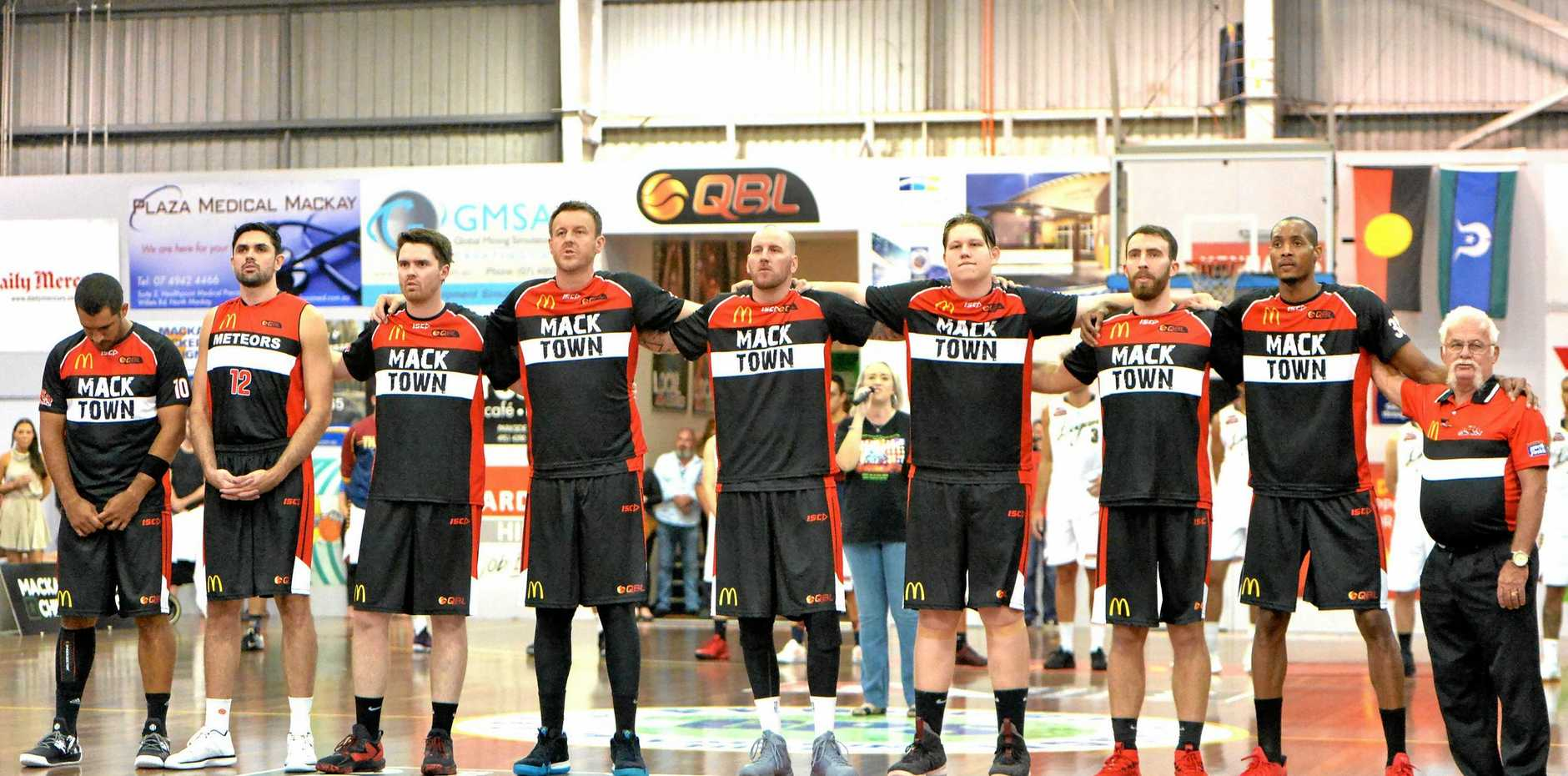 STICKING TOGETHER: The Meteors unite ahead of their QBL opener against the Logan Thunder on April 28.