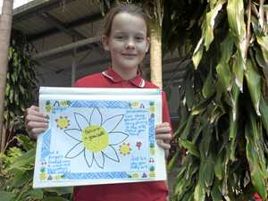 Anti-bullying poster takes Amelie to Sydney