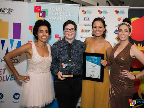 Phoebe (second from left) won the 2018 Northern Territory Young Achiever Community Service Award.
