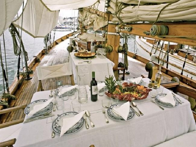 On board Bruno Entrecanales's luxury yacht.