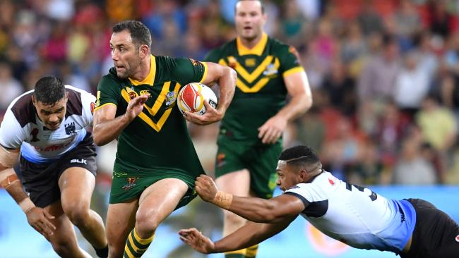 Cameron Smith has brought down the curtain on a glittering representative career. (AAP Image/Darren England)