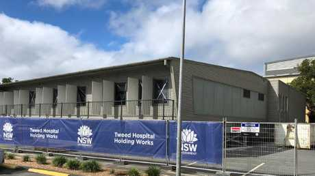 Demountables have been built to help with increasing demand at the Tweed Hospital. Photo: Supplied.