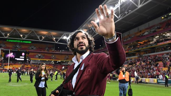 Johnathan Thurston has ruled out a return to the Origin arena. Photo: AAP Image/Dave Hunt