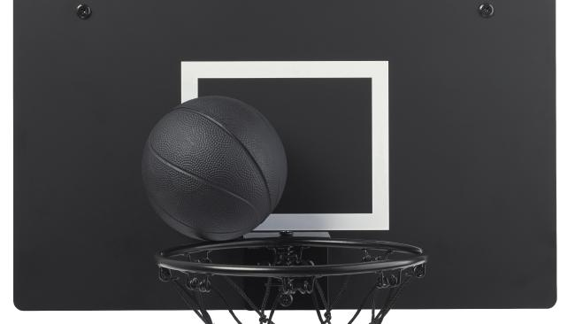 The SPÄNST basketball hoop and ball, $49.