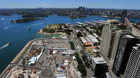Barangaroo, facing Circular Quay, has been one of Australia's biggest construction projects. Picture: Toby Zerna