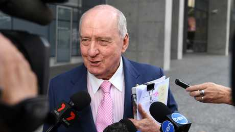 Alan Jones told reporters at the start of the ongoing defamation case that he would say nothing about the matter. Picture: Dan Peled/AAP