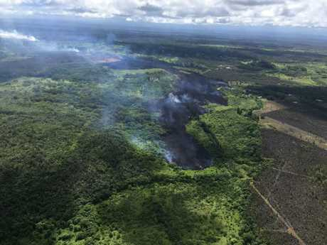 A lava flow moves down slope on Hawaii's Big Island. Picture: AFP/US Geological Survey