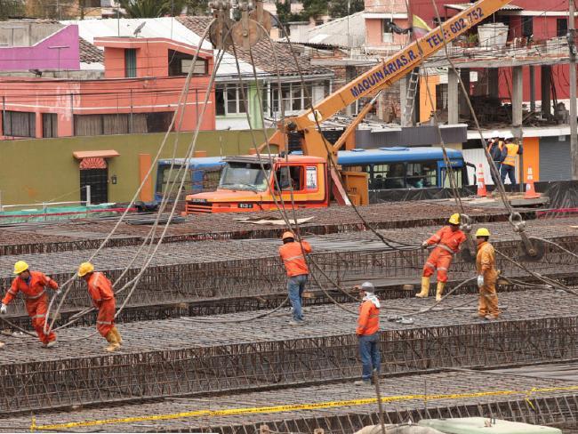Construction of the Quito Metro in Equador. Picture: Eduardo Santillán Trujillo/Presidency of the Republic