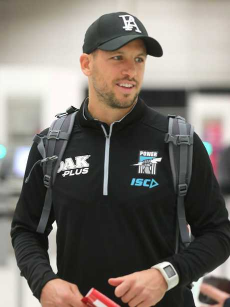 Travis Boak en route to China. Picture: Dean Martin