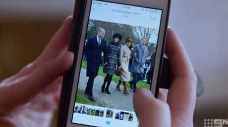 Ms Anvil took one photo of the young royal couples as a keepsake. Picture: Channel 9