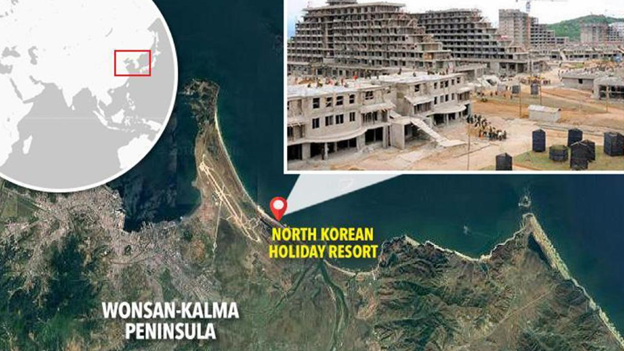 North Korean appears to be building a massive holiday resort on a 5km stretch of coast.