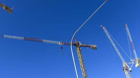 Construction can be a sign of an economy powering along. But too many cranes can see costs soar and construction falter. Picture: Darren Leigh Roberts