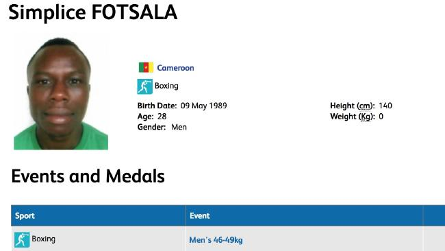 Cameroon's ID card for Simplice Fotsala.