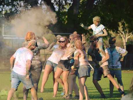 The Rural Pride colour run was held in Katherine last year.