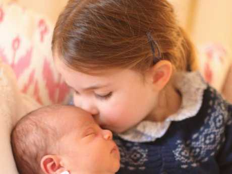 Princess Charlotte will be a bridesmaid, but Prince Louis will have to stay at home. Picture: Duchess of Cambridge.