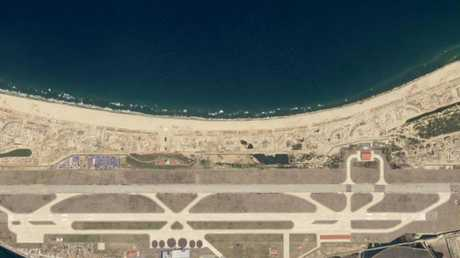 A satellite image of the site taken on April 27.