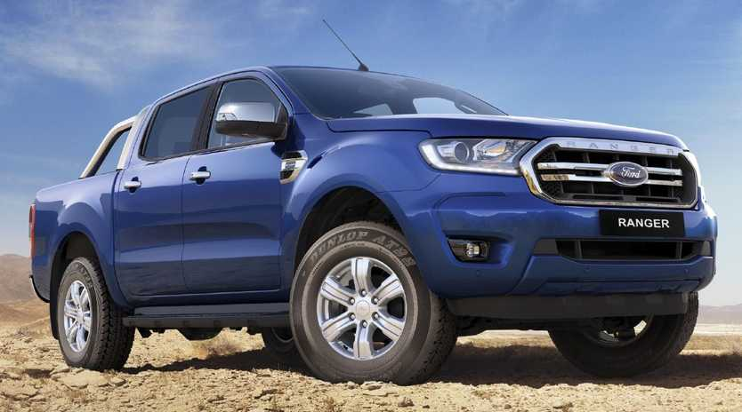"""Yes, this is the new one. Updated Ford Ranger """"PXIII"""" is due in Australian showrooms in September. Picture: Ford-supplied computer-generated image."""