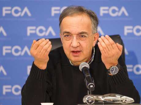 """Fiat Chrysler CEO Sergio Marchionne is alleged to have called his US communications chief """"utterly stupid"""" for publicly denying the existence of illegal emissions software in the company's vehicles. Picture: AFP"""