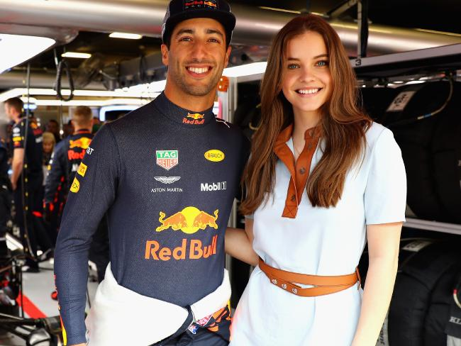Daniel Ricciardo rubs shoulders with supermodel Barbara Palvin.