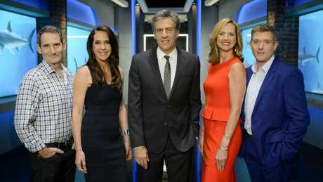 The Shark Tank judges (from left) Steve Baxter, Janine Allis, Andrew Banks, Naomi Simson and Glen Richards.