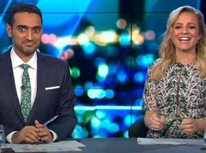 Carrie's racy remark leaves Waleed blushing