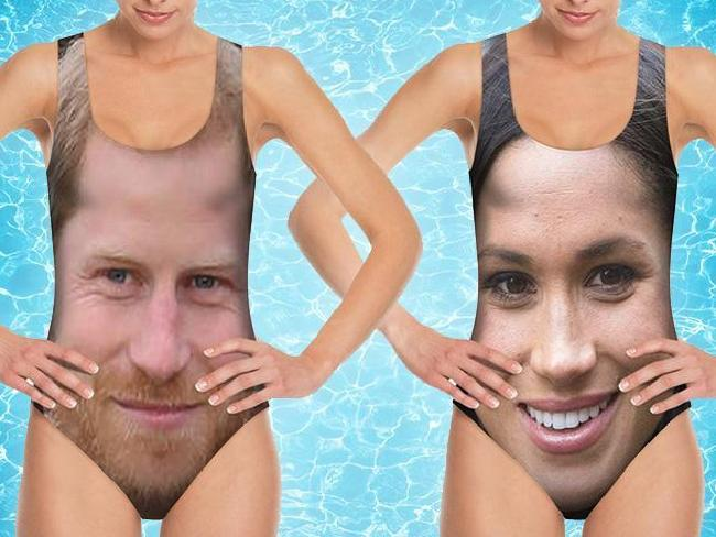 Harry and Meghan swimsuits.