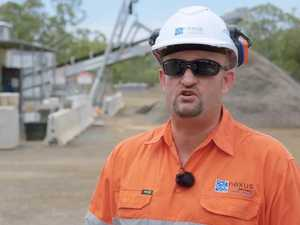 Toowoomba Second Range Crossing pavement works video