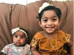 SUPPORT GROWS: Eleven-month old Tharunicaa and three-year-old Kopika are at a Melbourne detention centre.