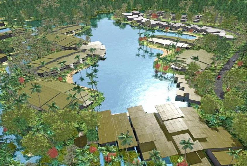 TWIN Waters Resort has been offered for sale on the basis of a claimed development potential which may see it double in size.