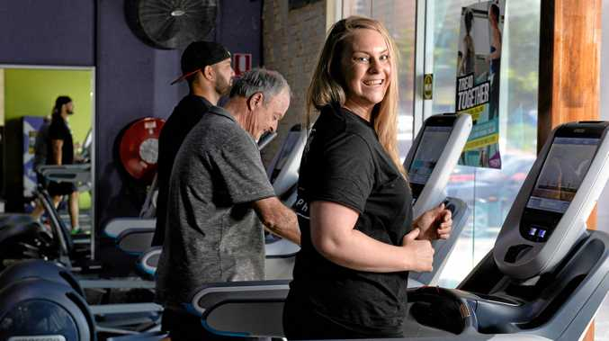 Anytime Fitness Springfield manager Rachel Campbell promotes the 24hr treadmill fundraiser called Tread Together.