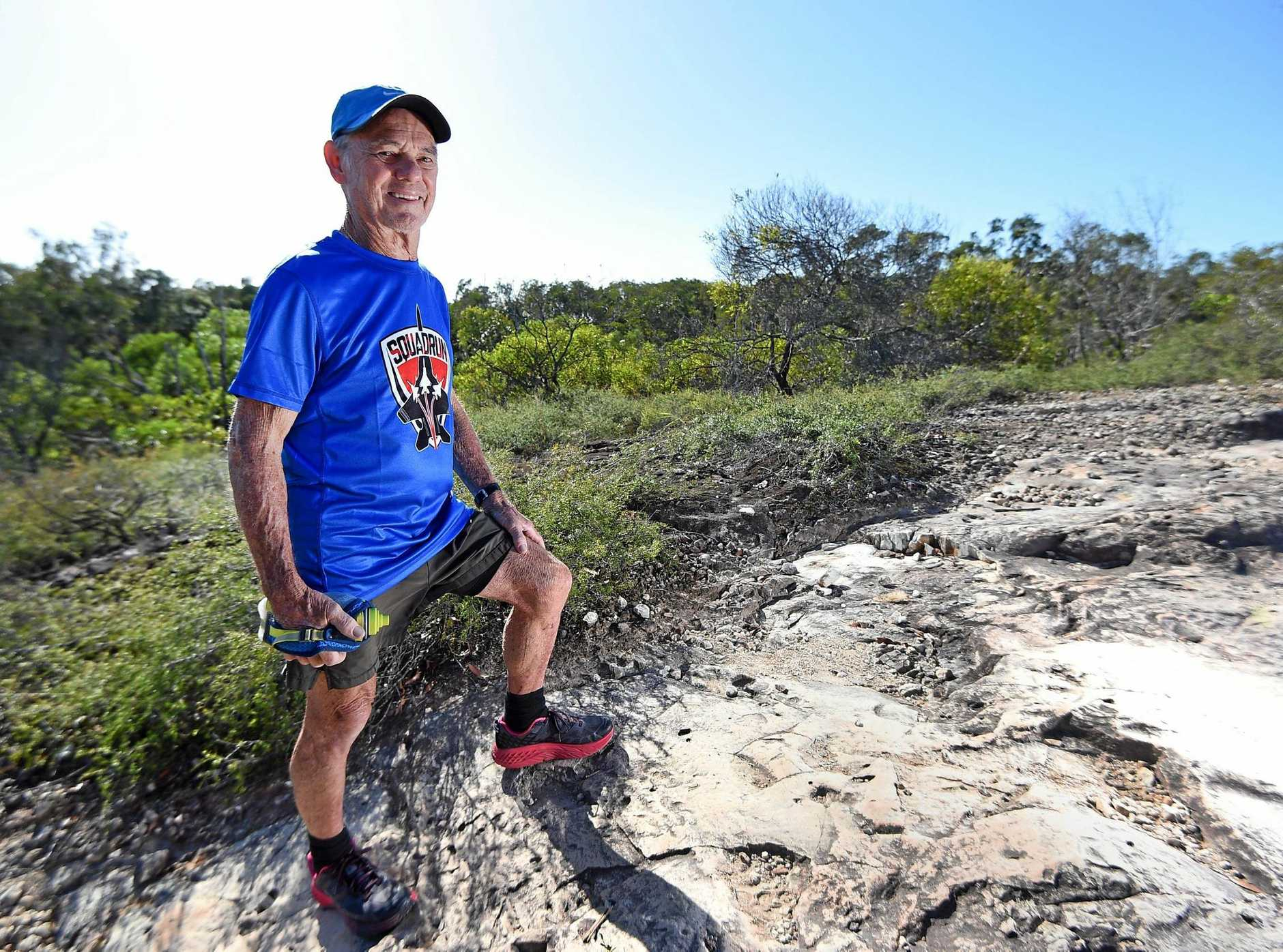 TRAINING: Frank Falappi at Emu Mountain. He will compete in the Ultra-Trail Australia running event in the Blue Mountains.