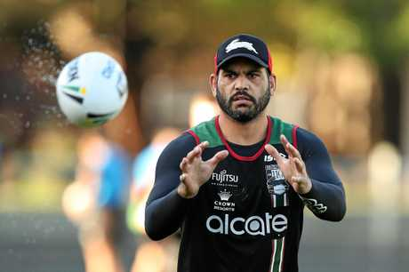 Greg Inglis returns for the Rabbitohs. Picture: Brett Costello