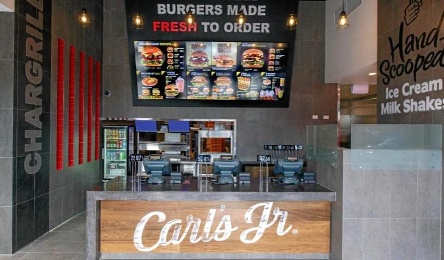 A view of inside one of the Carl's Jnr restaurants.