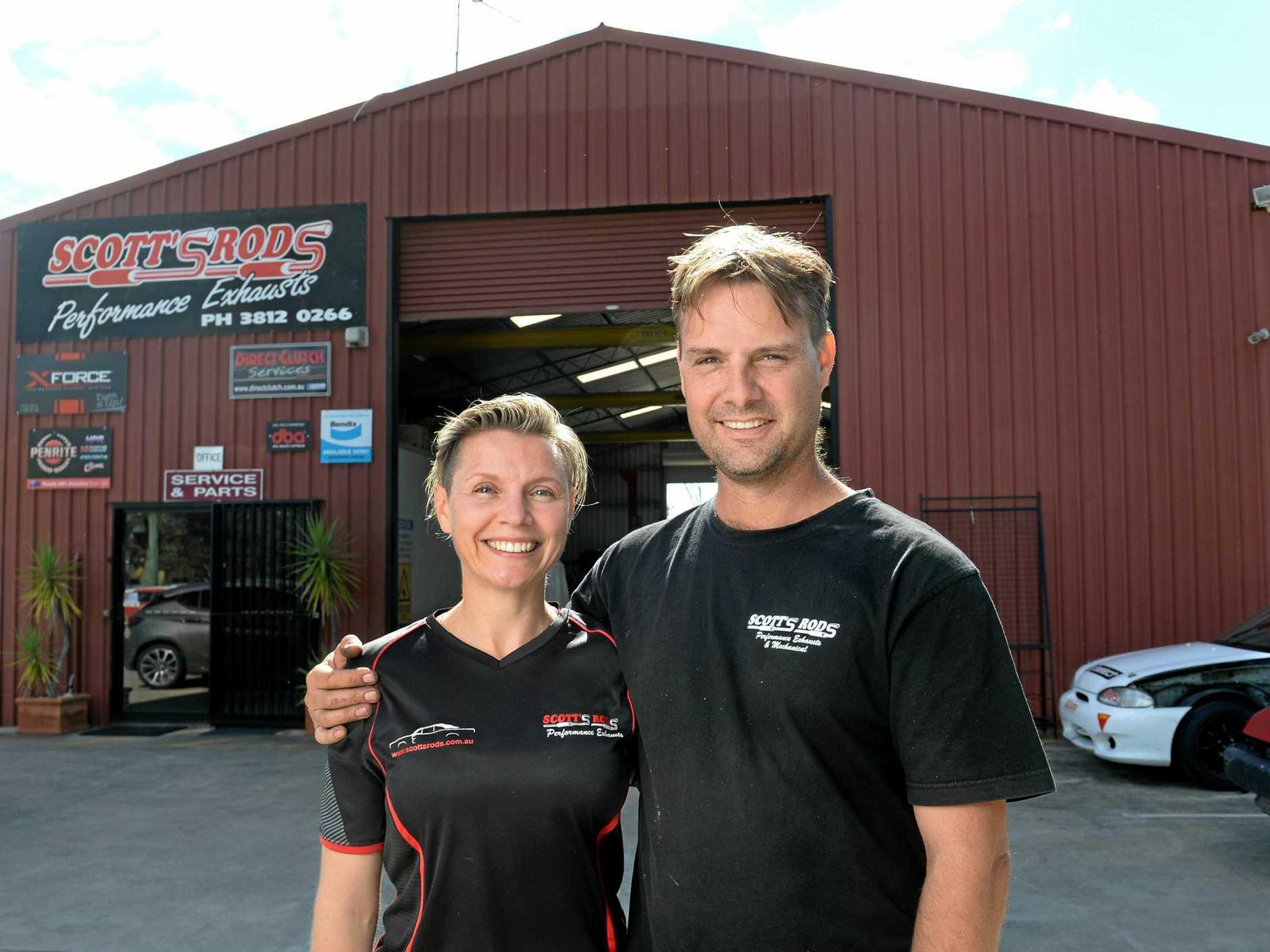NEW HOME: Scott's Rods Performance Exhausts and Mechanical owners Roslyn and Scott Green have moved their business to Belar St in Yamanto.