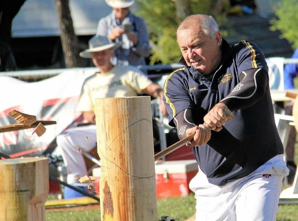 EXPERIENCE: Shayne Maxwell will be on the other side of the fence this year, organising the woodchop events.