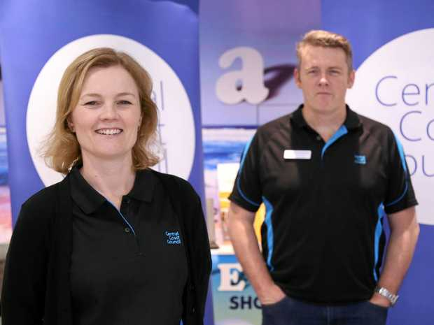 READY TO TALK: Executive manager People and Culture Kellie Reeves and acting chief executive officer Brian Glendenning are among the senior staff you may get to speak directly with at Central Coast Council's series of Staff Pop-ups.