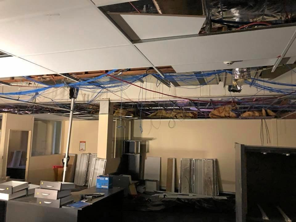 REFURB OR REBUILD: The current state of the council's Maryborough admin building after asbestos and electrical issues were discovered last year. A consultant's report will recommend the building either be rebuilt or refurbished.