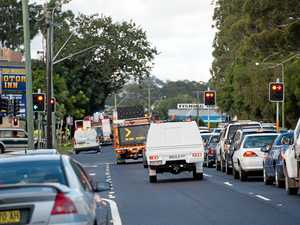 Traffic jam on highway following CBD 'building fire'