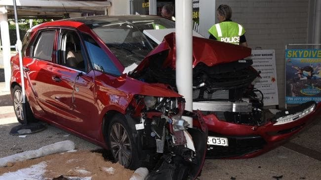 Stan Janczyk was having a coffee outside his fish and chip shop at Kirra when this car ploughed over up.
