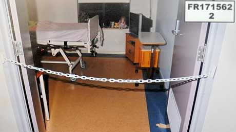Dorothy Mavis Baum's room and the plastic chain she was attacked with at a Christies Beach nursing home.