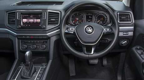 The VW Amarok has one of the best cabins in the business. Picture: Mark Bean.