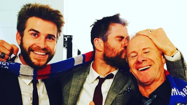 Craig Hemsworth's (right) fit body has ignited Instagram. Picture: @chrishemsworth/Instagram