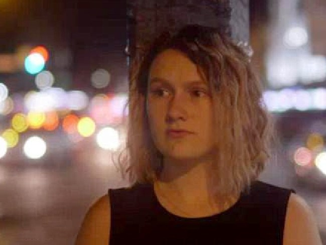 Saxon Mullins told Four Corners she didn't want to have sex outside a Sydney nightclub in 2013 with a man the court acquitted of sexual assault, Luke Lazarus. Picture: Four Corners.