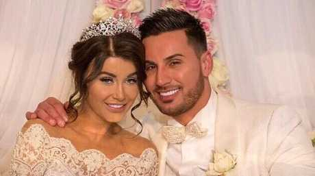Aysha Learmonth and Salim Mehajer on their wedding day.