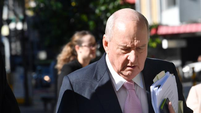 Alan Jones arrives at court for multimillion defamation trial