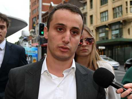 Luke Lazarus says that Four Corners portrayed him as a rapist but that he was found not guilty by the court. Picture: Dan Himbrechts.
